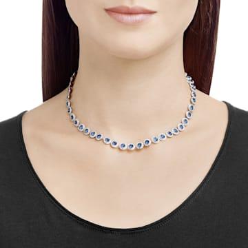 Collier Angelic, bleu, métal rhodié - Swarovski, 5482698