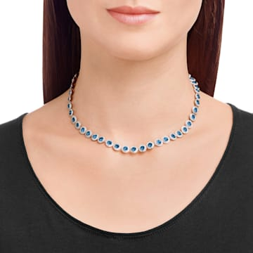 Collana Angelic, blu, placcato rodio - Swarovski, 5482698