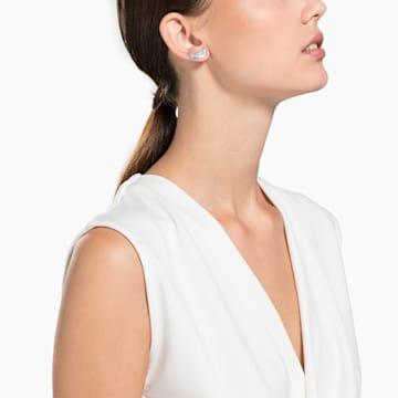 Nice 耳钉, 白色, 镀铑 - Swarovski, 5482912