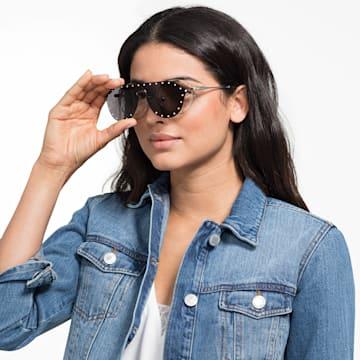 Swarovski Click-on Maske Çerçeveli Güneş Gözlükleri, SK0275-H 52016, Gri - Swarovski, 5483807