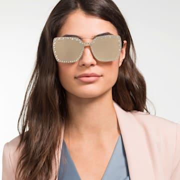 Swarovski-opklikbaar voorzetstuk voor zonnebrillen, SK5330-CL 32G, Bruin - Swarovski, 5483809
