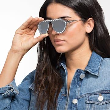 Mascherina a clip per occhiali da sole Swarovski, SK5329-CL 16C, grigio - Swarovski, 5483816