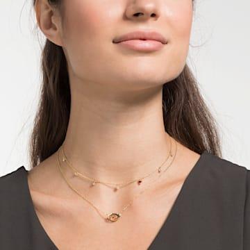 New Love 項鏈, 多色設計, 鍍金色色調 - Swarovski, 5483979
