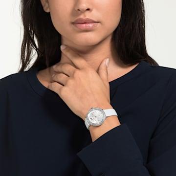 Crystal Frost Часы, Кожаный ремешок, Белый Кристалл, Нержавеющая сталь - Swarovski, 5484070