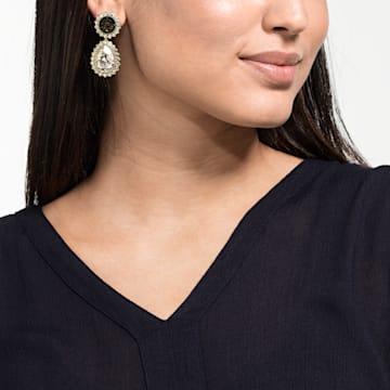 Millennium Pierced Earrings, Multi-colored, Gold-tone plated - Swarovski, 5484159