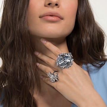 Ice Crack Motif Ring, Multi-colored, Ruthenium plated - Swarovski, 5486025