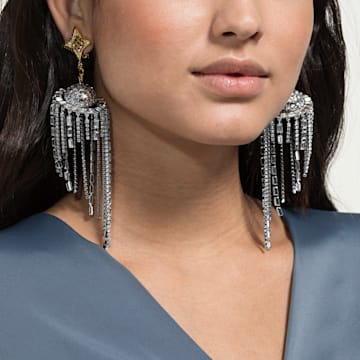 Celestial Fit Clip Earrings, Multi-colored, Mixed metal finish - Swarovski, 5486026