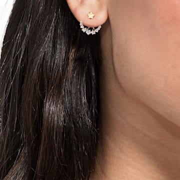 Vpichovací hroznové náušnice MoonSun Penélope Cruz, bílé, pozlacené růžovým zlatem - Swarovski, 5486351