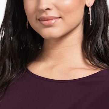 Penélope Cruz Moonsun 水滴形穿色耳環, 白色, 鍍玫瑰金色調 - Swarovski, 5486635
