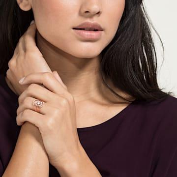 Anello per sovrapposizioni Penélope Cruz Moonsun, bianco, Placcato oro rosa - Swarovski, 5486805