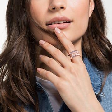 North 圖形戒指, 白色, 鍍玫瑰金色調 - Swarovski, 5487071
