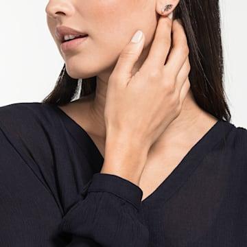 Prosperity stud pierced earrings, Wing, Multicolored, Rose-gold tone plated - Swarovski, 5488203