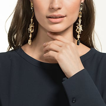 Chromancy Clip Earrings, Multi-coloured, Mixed metal finish - Swarovski, 5489076