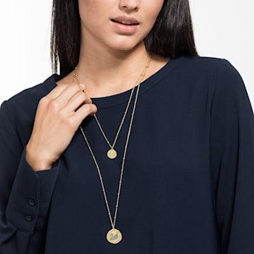 Vintage Swan Necklace, White, Gold-tone plated - Swarovski, 5489220