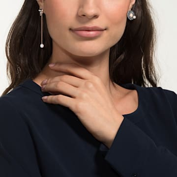 Play Pierced Earrings, Multi-coloured, Mixed metal finish - Swarovski, 5489441