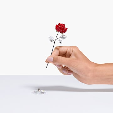 Blumenträume – Rote Rose, groß - Swarovski, 5490756