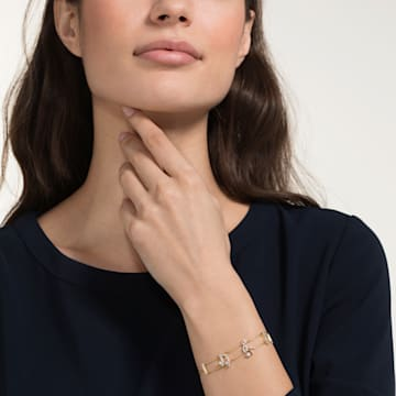 Bracelet Pleasant, blanc, Métal doré - Swarovski, 5491658