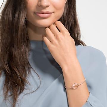North 手鏈, 白色, 鍍玫瑰金色調 - Swarovski, 5493393