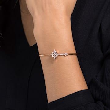 Bracelet-jonc Swarovski Symbolic, blanc, Métal doré rose - Swarovski, 5494338