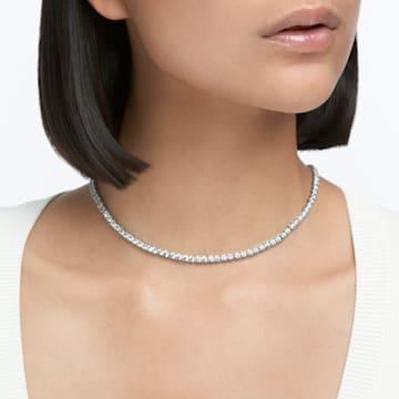 Collar Tennis Deluxe, blanco, baño de rodio - Swarovski, 5494605