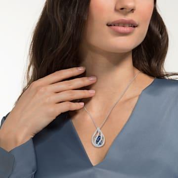 Energic medálos nyaklánc, kék, ródium bevonattal - Swarovski, 5494970