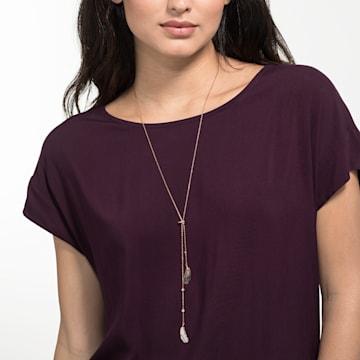 Naughty Halskette, schwarz, Rosé vergoldet - Swarovski, 5495290