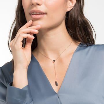 Naughty Y-Halskette, schwarz, Rosé vergoldet - Swarovski, 5495299