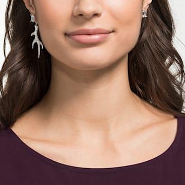 Polar Bestiary 穿孔耳环, 流光溢彩, 镀铑 - Swarovski, 5497634