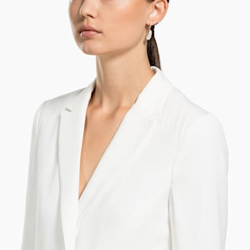 Pendientes de aro Nice, blanco, Baño en tono Oro Rosa - Swarovski, 5497872