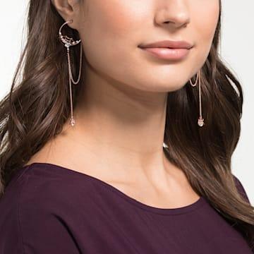 Precisely bedugós karika fülbevaló, fehér színű, rózsaarany tónusú bevonattal - Swarovski, 5499888