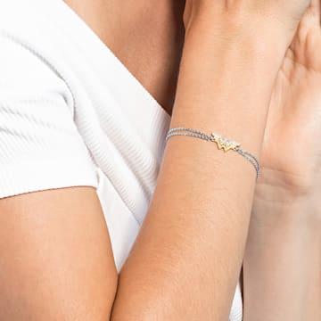 Fit Wonder Woman bracelet, Wing, Gold tone, Mixed metal finish - Swarovski, 5502311