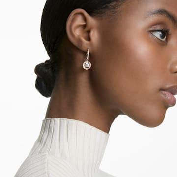 Swarovski Sparkling Dance 穿孔耳环, 圆形切割, 白色, 镀玫瑰金色调 - Swarovski, 5504753