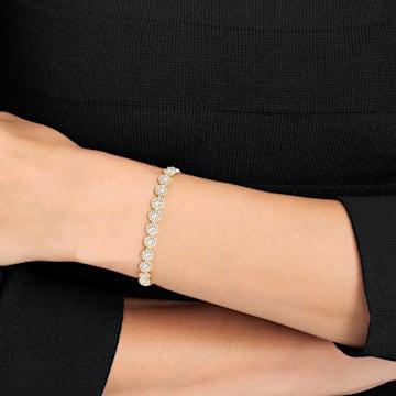 Angelic-armband, Wit, Goudkleurige toplaag - Swarovski, 5505469
