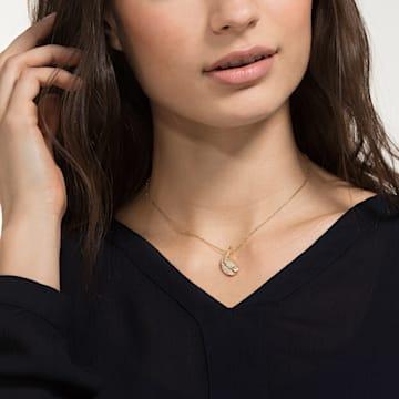 Nice 项链, 白色, 镀金色调 - Swarovski, 5505740