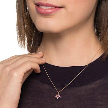 彩蜂蜜语玫瑰金粉红蓝宝石粉红托帕石钻石链坠 - Swarovski, 5506554