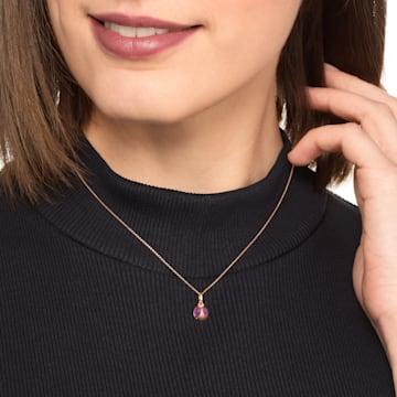 瓢星之愿玫瑰金红宝石钻石链坠 - Swarovski, 5506555