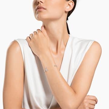 Bracciale rigido Moonsun, Bianco, Placcato rodio - Swarovski, 5508443