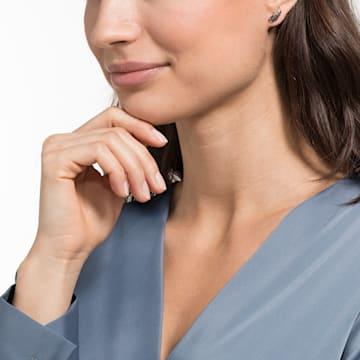Naughty 穿孔耳環, 黑色, 鍍玫瑰金色調 - Swarovski, 5509722