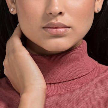 Orecchini Attract, bianco, placcato color oro rosa - Swarovski, 5509935