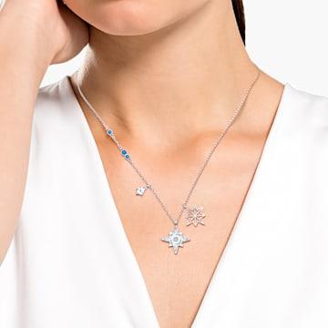 Swarovski Symbolic medál, Csillag, Fehér, Ródium bevonattal - Swarovski, 5511404