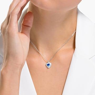 Colgante One, azul, baño de rodio - Swarovski, 5511541