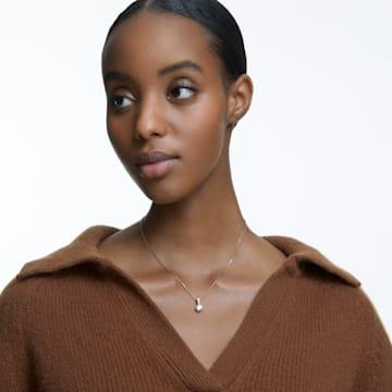 Solitaire 链坠, 白色, 镀金色调 - Swarovski, 5511557