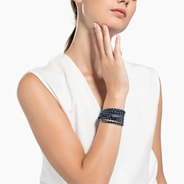 Swarovski Power Collection bracelet, Medium, Blue - Swarovski, 5511697