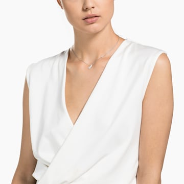 Collana Naughty, bianco, Placcatura rodio - Swarovski, 5512365