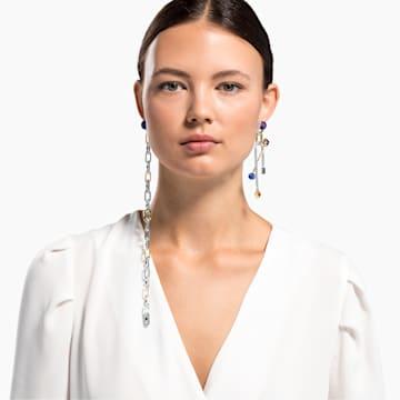 Spectacular Pierced Earrings, Dark multi-coloured, Mixed metal finish - Swarovski, 5512470