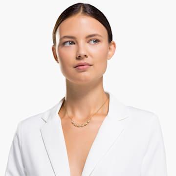 Shell-choker, Wit, Goudkleurige toplaag - Swarovski, 5512712