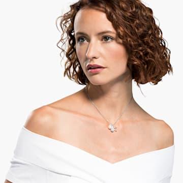 So Cool Cluster nyaklánc, fehér, ródium bevonattal - Swarovski, 5512732