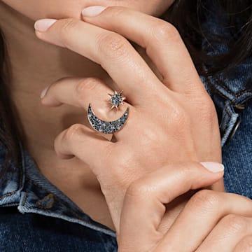 Swarovski Symbolic Moon Ring, mehrfarbig, Rosé vergoldet - Swarovski, 5513220