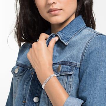 Parure de bracelets-joncs Moonsun, Blanc, Métal rhodié - Swarovski, 5513979
