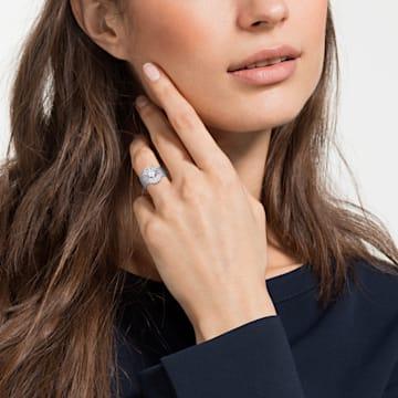 Penélope Cruz Moonsun 戒指套裝, 白色, 鍍白金色 - Swarovski, 5513980